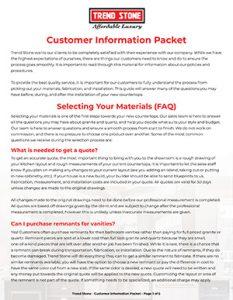 Customer Info Packet
